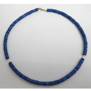 Jewelry - 14k Gold Natural Lapis Necklace
